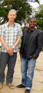 Chief Executive, Martin Smedley with Malawi Team Leader, Bernard Makupete