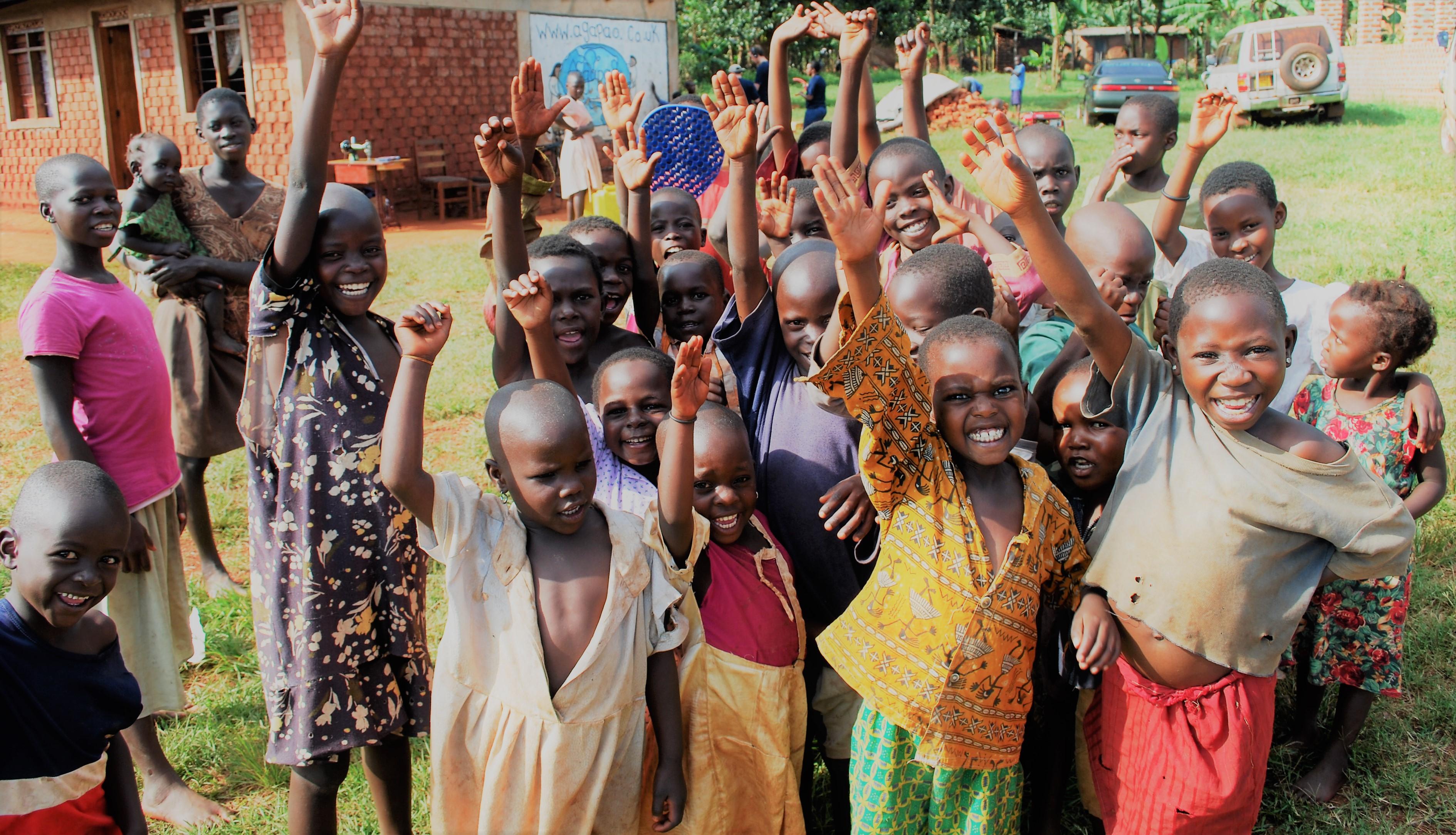 Children chearing