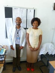 Tanzania Senior Trainer, Tumaini Orgenes with Dr. Vincent