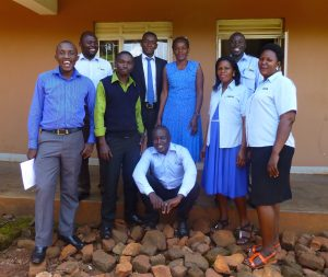 Act4Africa Jinja Team March 2016 (left to right): Patrick, Jude, Sanon, Nicholas, Martha, Daisy, Peter, Harriet. Seated: Moris