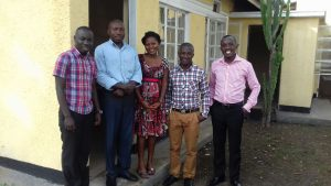 Act4Africa Kasese Team (left to right) Geoffry, Enos, Harriet and Moris with Patrick, Uganda General Manager